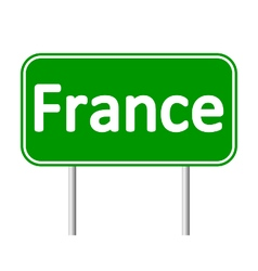 France road sign vector