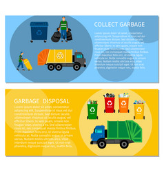 garbage disposal concept banners vector image