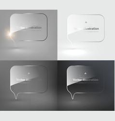 Glass Speech Bubble Design Set vector image vector image