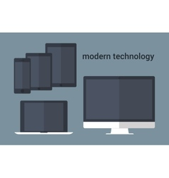 Group of computer devices vector image