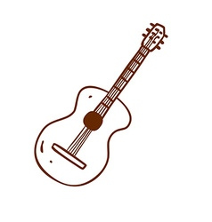 Hand Drawn Guitar vector