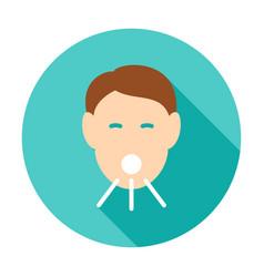 Head cough circle icon vector