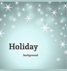 holiday blue decoration background with stars vector image