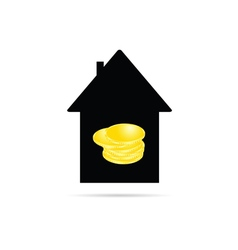 house with coin vector image
