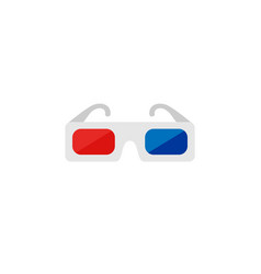 icon of 3d glasses cinema icon set vector image