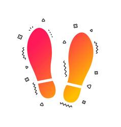 imprint shoes sign icon shoe print symbol vector image