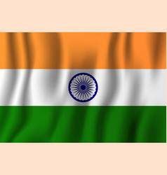 india realistic waving flag national country vector image