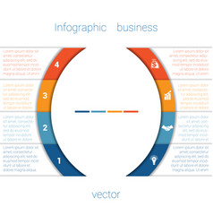 Infographic strips and semicircle 4 vector
