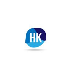 initial letter hk logo template design vector image