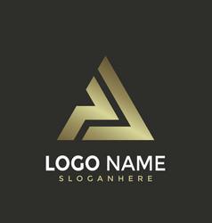 Letter pa triangle modern logo design vector