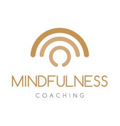 mindfulness coaching logo company vector image