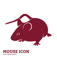 mouse design silhouette mouse vector image