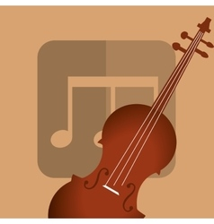 Music acoustic instrument vector image