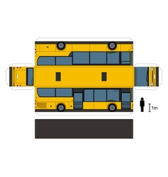 Paper model a yellow bus vector