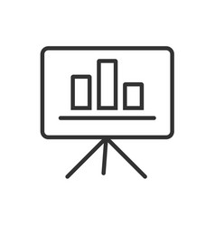 Presentation line icon on a white background vector