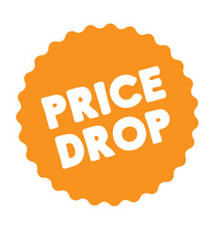 Price drop stamp on white vector