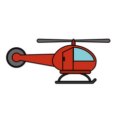 red helicopter transport fly image vector image