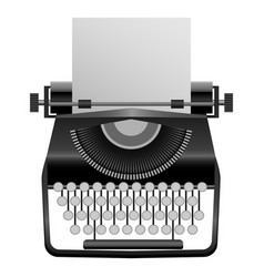 Retro typewriter mockup realistic style vector