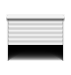 Roller shutter garage door vector