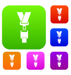 safety belt set collection vector image