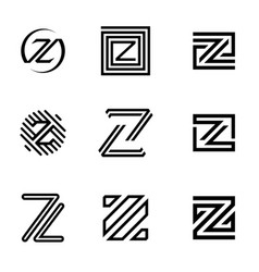 Set letter z vector