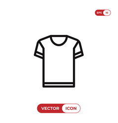 shirt icon vector image