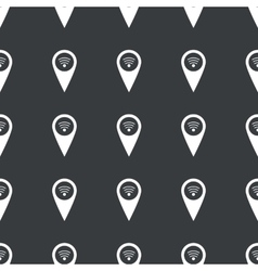 Straight black Wi-Fi pointer pattern vector image