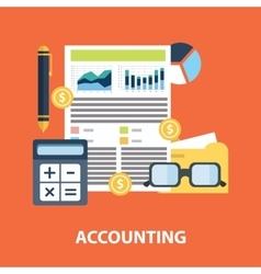 Successful financial business plan report and vector