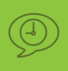 talk duration color linear icon vector image