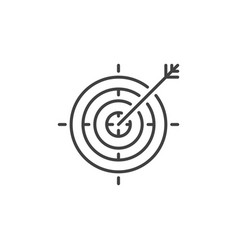 target outline icon or logo element vector image