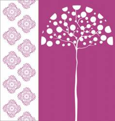 tree and pattern vector image