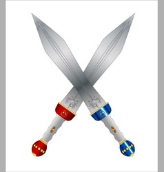 Two roman swords vector