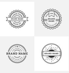 vintage retro style emblem badge logo design vector image