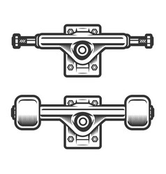 Vintage skateboard wheels concept vector