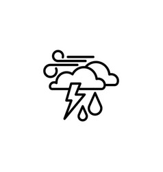 web icon haze storm clouds wind and rain vector image