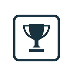 winner cup icon Rounded squares button vector image