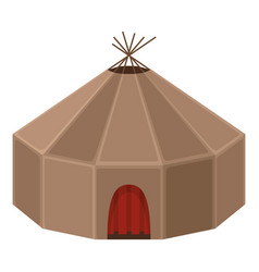 yurt house circular domed tent skins vector image