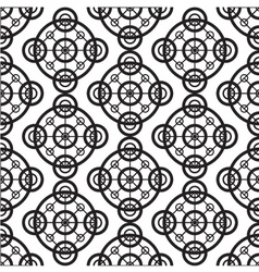 Black and white seamless background pattern vector image