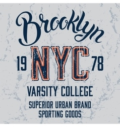 Brooklyn City print design vector image