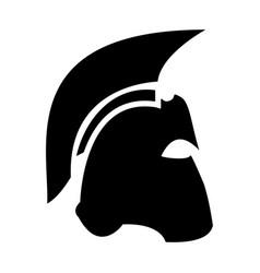 spartan helmet the black color icon vector image vector image
