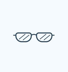 sunglasses flat icon vector image