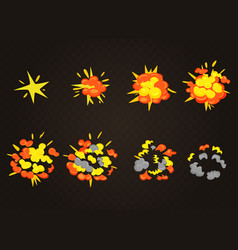 top view of smooth explosion effect bomb vector image