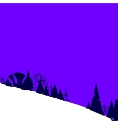 with forest in mountains on hill vector image vector image