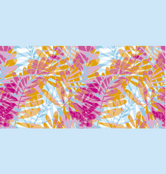 colorful pink and blue tropical seamless pattern vector image vector image