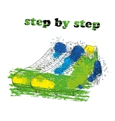 Hand drawn football boots with watercolor effect vector image vector image