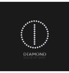 I letter with diamonds vector image vector image
