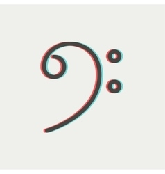 C-clef thin line icon vector image