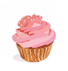 Cupcake isolated on white background vector image vector image