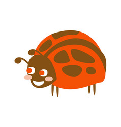 cute cartoon ladybug colorful character vector image