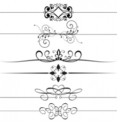 decorative footers vector image